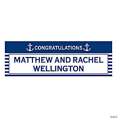 Personalized Small Nautical Wedding Banner