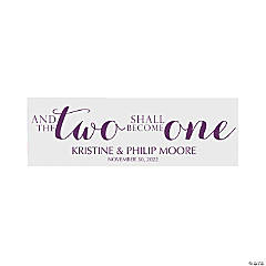 Personalized Small Two Become One Banner