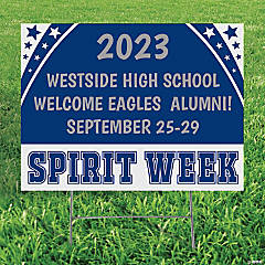 Personalized Spirit Week Yard Sign
