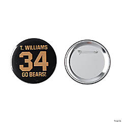 Personalized Sports Number Buttons