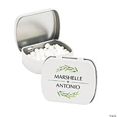 Personalized Spring Greenery Mint Tins