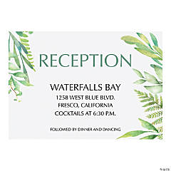 Personalized Spring Greenery Reception Cards