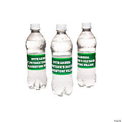 Personalized St. Patrick's Day Water Bottle Labels