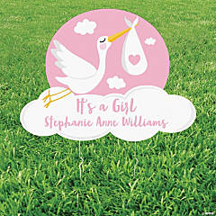 Personalized Stork Yard Sign