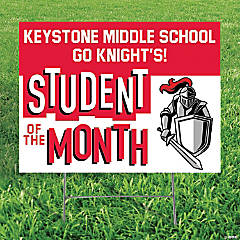 Personalized Student of the Month Yard Sign