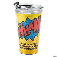 Personalized Superhero Travel Mug