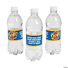 Personalized Superhero Water Bottle Labels