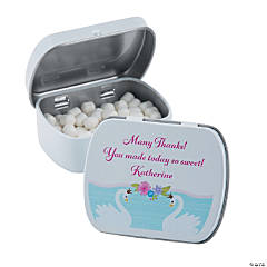 Personalized Sweet Swan Baby Shower Mint Tins