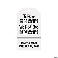 Personalized Take a Shot Favor Tags