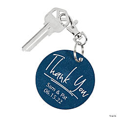 Personalized Thank You Keychains