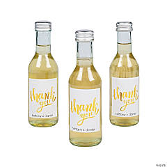 Personalized Thank You Mini Wine Bottle Labels