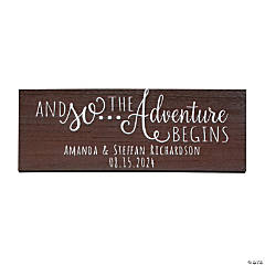 Personalized The Adventure Begins Sign