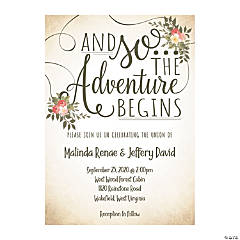 Personalized The Adventure Begins Wedding Invitations