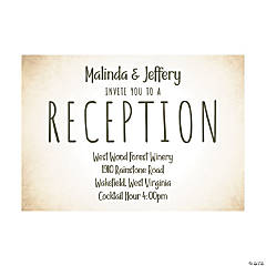 Personalized The Adventure Begins Wedding Reception Cards