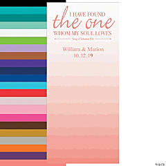 Personalized The One Gradient Wedding Banner