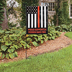 Personalized Thin Line Garden Flag