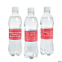 Personalized 'Tis the Season Water Bottle Labels