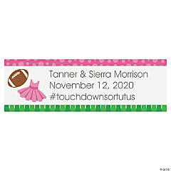 Personalized Touchdowns or Tutus Gender Reveal Banner