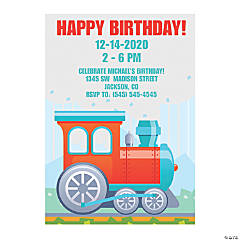 Personalized Train Party Invitations