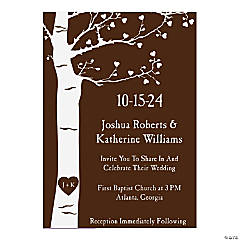 Personalized Tree Wedding Invitations