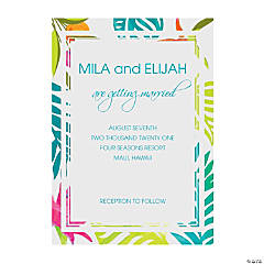 Personalized Tropical Wedding Invitations