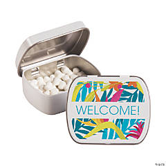 Personalized Tropical Wedding Mint Tins