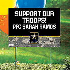 Personalized U.S. Army® Support Our Troops Yard Sign