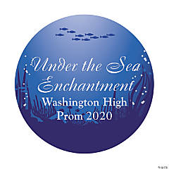 Personalized Under the Sea Theme Favor Stickers