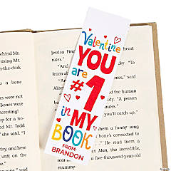 Personalized Valentine Bookmarks