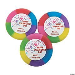 Personalized Valentine Mini Flying Discs
