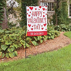 Personalized Valentine's Day Garden Flag