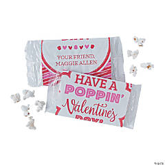 Personalized Valentine's Day Popcorn Bags