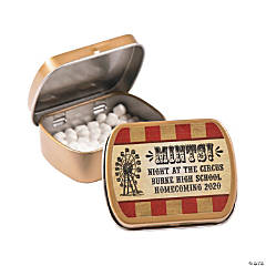 Personalized Vintage Circus Mint Tins