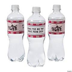 Personalized Vintage Circus Water Bottle Labels