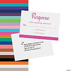 Personalized We Do Wedding Response Cards