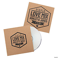 Personalized Wedding Favor CD Sleeves