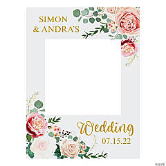 Personalized Wedding Floral Photo Booth Frame Cutout