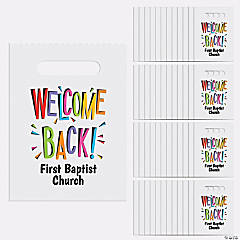 Personalized Welcome Back Bags