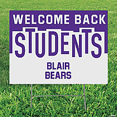 Personalized Welcome Back Students Yard Sign