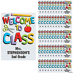 Personalized Welcome to Class Goody Bags