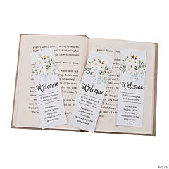 Personalized Welcome to Our Church Bookmarks