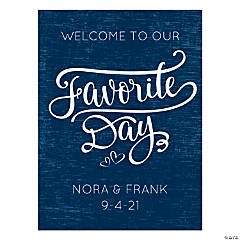 Personalized Welcome to our Favorite Day Sign