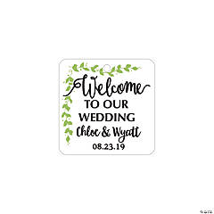 Personalized Welcome to our Wedding Favor Tags