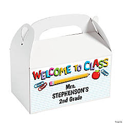 Personalized Welcome to the Classroom Treat Boxes