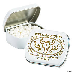 Personalized Western Belt Buckle Mint Tins