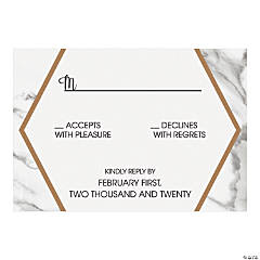 Personalized White Marble Response Cards