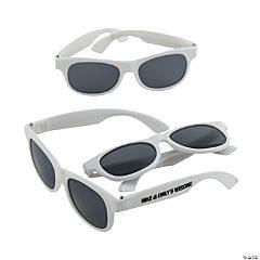 Personalized White Nomad Sunglasses