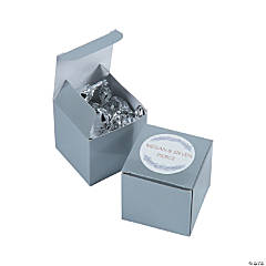 Personalized Winter Wedding Favor Boxes