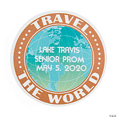Personalized World Traveler Favor Stickers