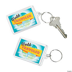 Personalized World Traveler Keychains